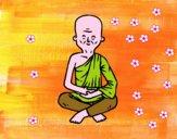 Coloriage Maître bouddhiste colorié par raphael
