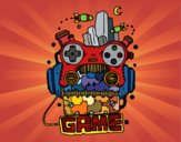 Coloriage Robot game colorié par Vividlastr