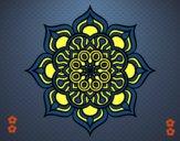 Mandala fleur de feu