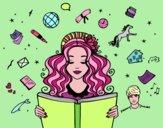 Coloriage Journée du livre colorié par Maelie