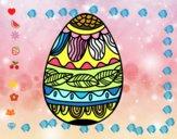 Oeuf de Pâques avec motif végétal