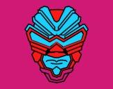 Coloriage Masque de rayon gamma colorié par liogier