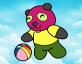 Panda avec ballon