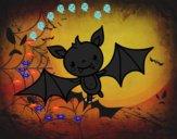 Coloriage Chauve-souris Halloween colorié par PALI