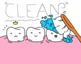 Coloriage Les dents colorié par EmmaPoulpe
