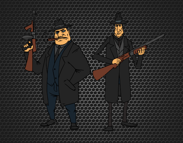 Coloriage Gangsters colorié par KAKE2