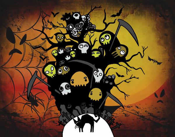 Coloriage Nuit de Halloween colorié par KAKE2