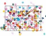 Coloriage Puzzle colorié par ophelie