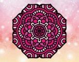 Mandala fleur conceptuel