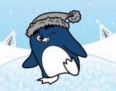 Pingouin avec bonnet de Noël
