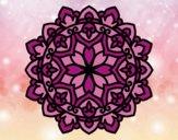 Coloriage Mandala celtique colorié par saradauphi