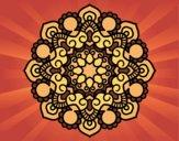 Coloriage Mandala réunion colorié par saradauphi