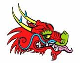 Tête de dragon roux