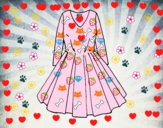 Coloriage Robe avec jupe complète colorié par JojoW