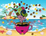 Tasse de café kawaii