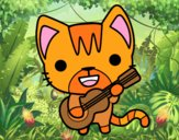 Chat guitariste