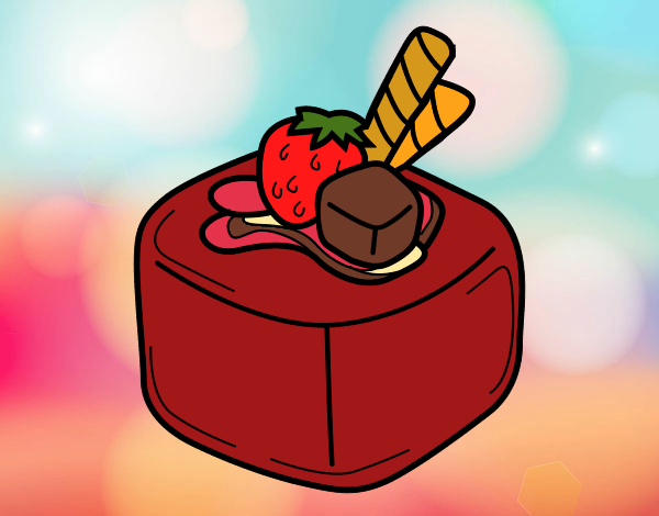 Coloriage Chocolat de fruit colorié par atchicanon