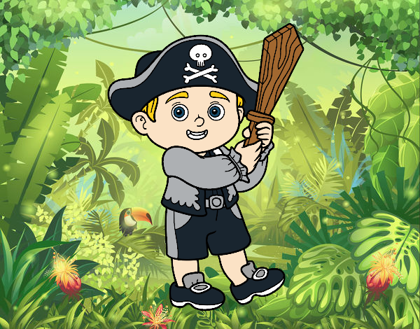Coloriage Costume Pirate colorié par atchicanon