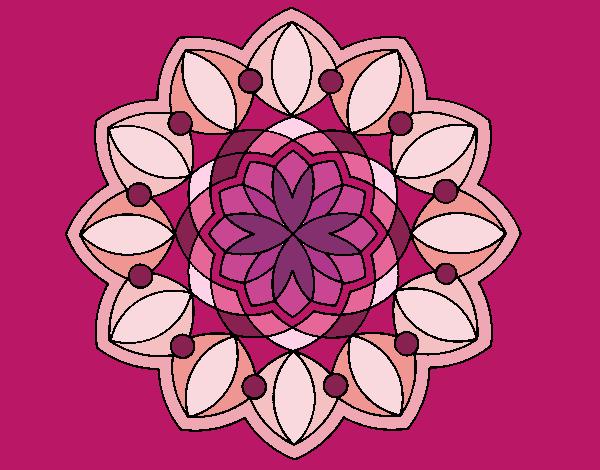Coloriage Mandala 3 colorié par atchicanon