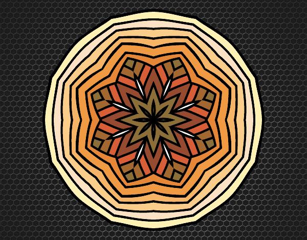 Coloriage Mandala aérienne colorié par atchicanon