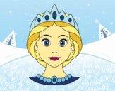 Coloriage Visage de princesse colorié par atchicanon