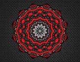 Coloriage Mandala avec strate colorié par saradauphi