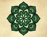 Coloriage Mandala croissance exponentielle colorié par saradauphi