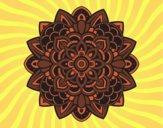 Coloriage Mandala décoratif colorié par saradauphi