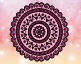 Coloriage Mandala ethnique colorié par saradauphi
