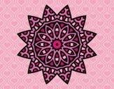 Coloriage Mandala étoile colorié par saradauphi