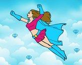 Super girl volant