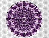 Mandala fleur avec des cercles