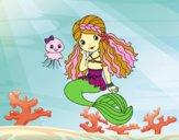 Sirène et méduse