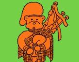 Ours joueur de cornemuse