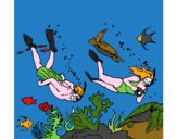 Plongeurs sous-marins
