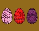 Trois oeufs de Pâques