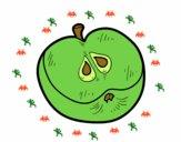 Une demi- pomme