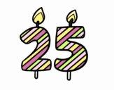 Coloriage 25 ans colorié par Juu0812