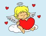 Cupidon avec le coeur