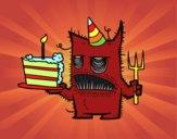 Monstre gâteau d'anniversaire