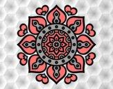 Mandala coeurs arabes