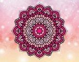 Mandala étoiles décoré