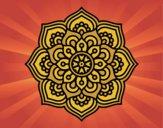 Mandala fleur de concentration