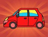 Coloriage Petite voiture colorié par clara17282