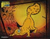 Coloriage Bob l'éponge - La Grignotte à l'attaque colorié par raphael