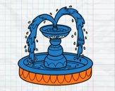 Coloriage Fontaine colorié par raphael