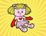 Coloriage Poupée de jouets colorié par raphael
