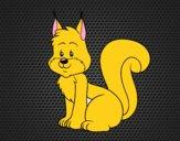 Coloriage Un écureuil colorié par raphael