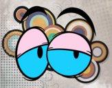 Coloriage Yeux colorié par raphael