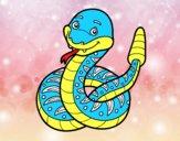 Un serpent à sonnette